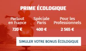Simulation bonus ecologique pour le rider 3000w